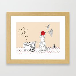 Catch more flies with honey... Framed Art Print