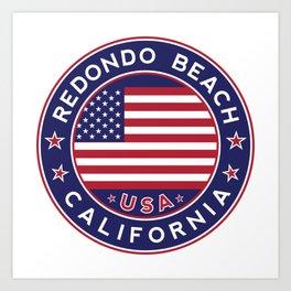 Redondo Beach, California, Art Print