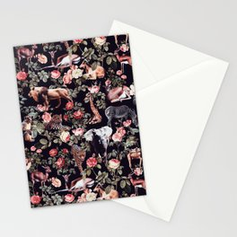 Animals and Floral Pattern Stationery Cards