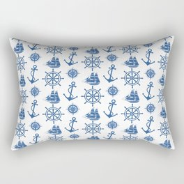 Ships Anchor Beach House Rectangular Pillow
