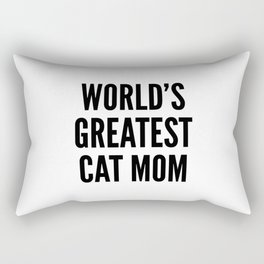 WORLD'S GREATEST CAT MOM Rectangular Pillow