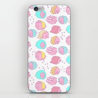 blankets iPhone & iPod Skins featuring Pigs in Blankets by stephstilwell