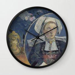 Paul Gauguin - The Beautiful Angèle (1889) Wall Clock