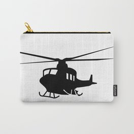 War Helicopter Silhouette Carry-All Pouch