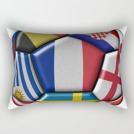 Russia 2018 - football ball with various flags Rectangular Pillow