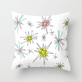 Atomic print Throw Pillow