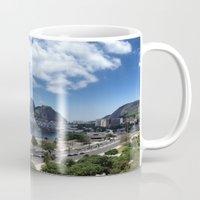 rio de janeiro Mugs featuring Lovely Rio de Janeiro by Michel Lent