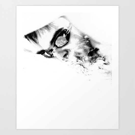 The loneliness of the long distance swimmer Art Print