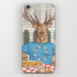 Everyday Animals - Mr Stag eats his lunch iPhone Skin