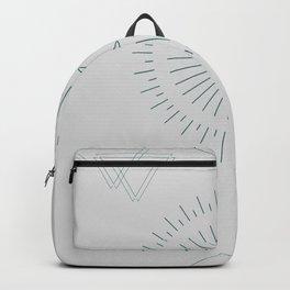 Moon, Sun, Triangle  Blue Backpack