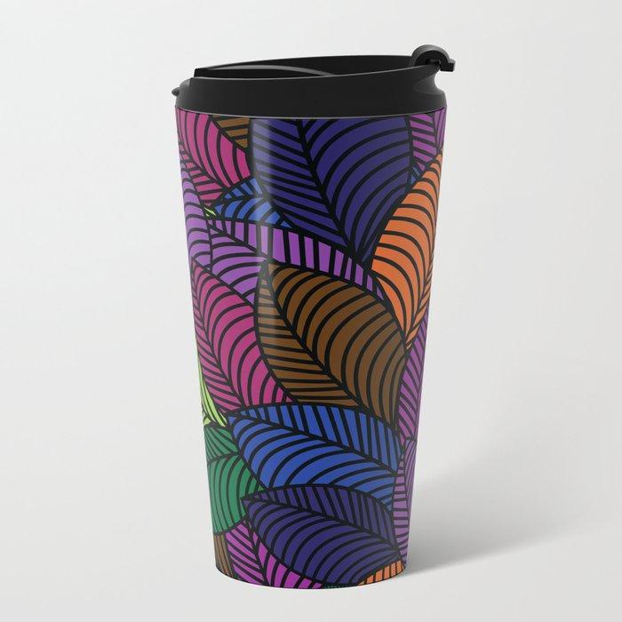 Pattern H Metal Travel Mug