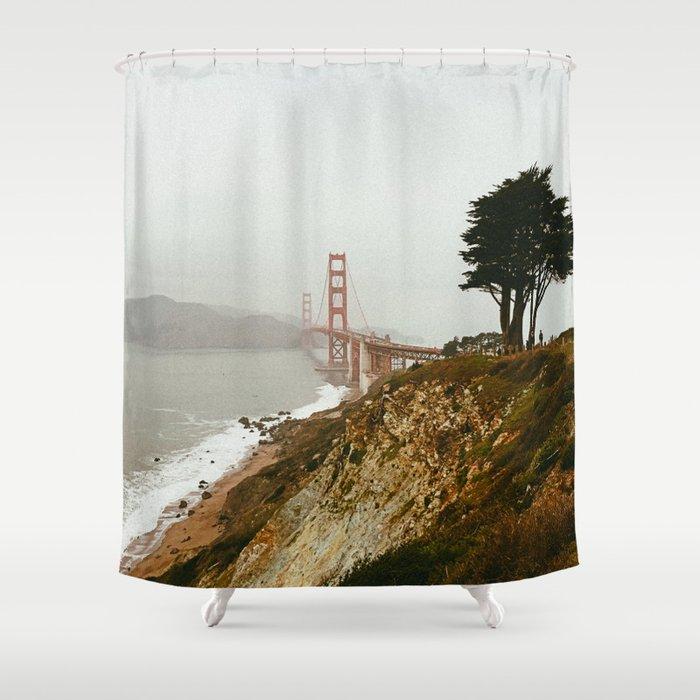 Golden Gate Bridge San Francisco California Shower Curtain By Somewherewithher