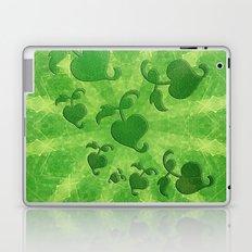 Vine leaves on green kaleidoscope Laptop & iPad Skin