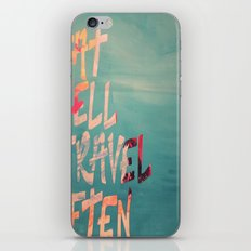 EatWell. TravelOften iPhone & iPod Skin