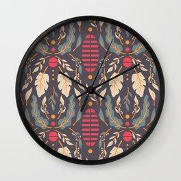 Vintage Floral Pattern 007 Wall Clock