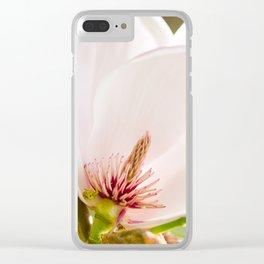 Magnolia sepal flowering macro Clear iPhone Case