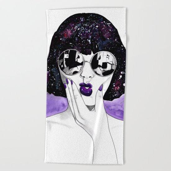 Violet Beach Towel