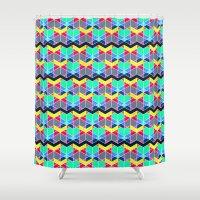 batik Shower Curtains featuring Batik by AZRI AHMAD