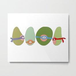 Ninja Avocados Metal Print