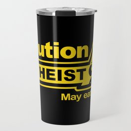 Caution - Atheist Travel Mug