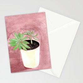 Succulente en pot Stationery Cards