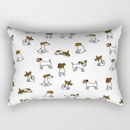 Jack Russell Terrier Cartoon Rectangular Pillow