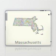 Massachusetts map Laptop & iPad Skin
