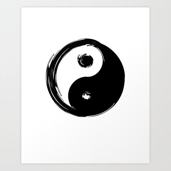 Yin Yang Symbol Art Print By Deificusart Society6