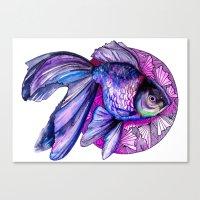 goldfish Canvas Prints featuring Goldfish by Slaveika Aladjova