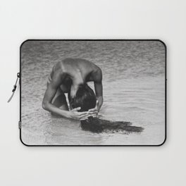 Nothing but tan lines, ocean, & beach female form black and white photography Laptop Sleeve