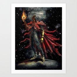 Epic Vincent Valentine Final Fantasy Painting Portrait Art Print