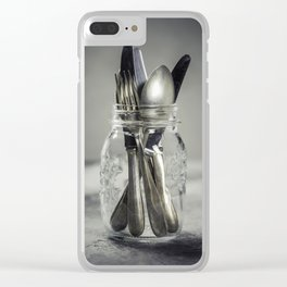 Forks spoons and knifes Clear iPhone Case