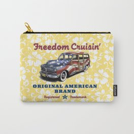 Freedom Crusin' Hawaiian Woody Design Carry-All Pouch