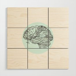 Brain Wood Wall Art