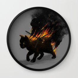 This Cat Is On Fire! Wall Clock