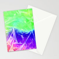 Aurora 3 - Green Sky Stationery Cards