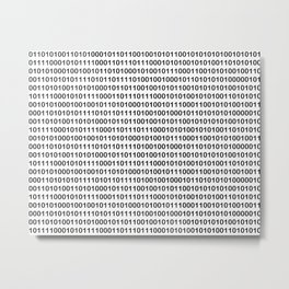 Binary Code Metal Print