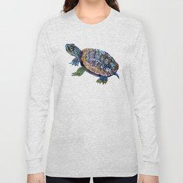 Slider Baby Turtle artwork Long Sleeve T-shirt