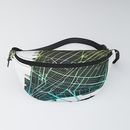 Colourful City Map of New York, USA Fanny Pack