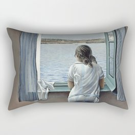 Salvador Dali Young Woman at a Window 1925 Artwork for Wall Art, Prints, Posters, Tshirts, Mwn, Women, Youth Rectangular Pillow