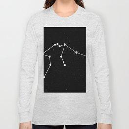 AQUARIUS (BLACK & WHITE) Long Sleeve T-shirt