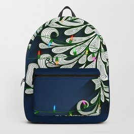 Christmas tree with colorful lights Backpack