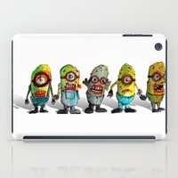 minions iPad Cases featuring zombie minons by byron rempel