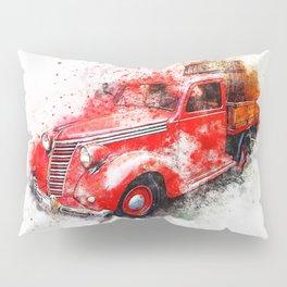 Car Old Oldtimer red Pillow Sham