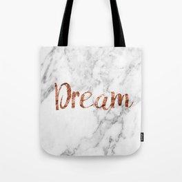 Rose gold marble dream Tote Bag