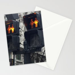 Gay Street Lights (Lesbian Couple) Stationery Cards
