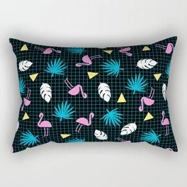 Sketchy - memphis wacka design throwback neon 1980s 80s style retro pattern grid flamingo tropical Rectangular Pillow