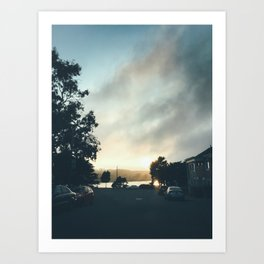 Merced Sunset Art Print