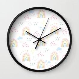 Rainbow kid feelings Wall Clock