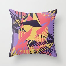 Dazzle Camo #03 - Purple & Yellow Throw Pillow
